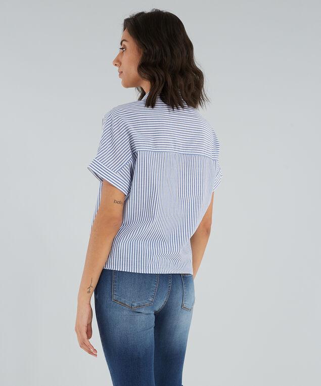 camp shirt button down - wb, YARN DYE BLUE, hi-res
