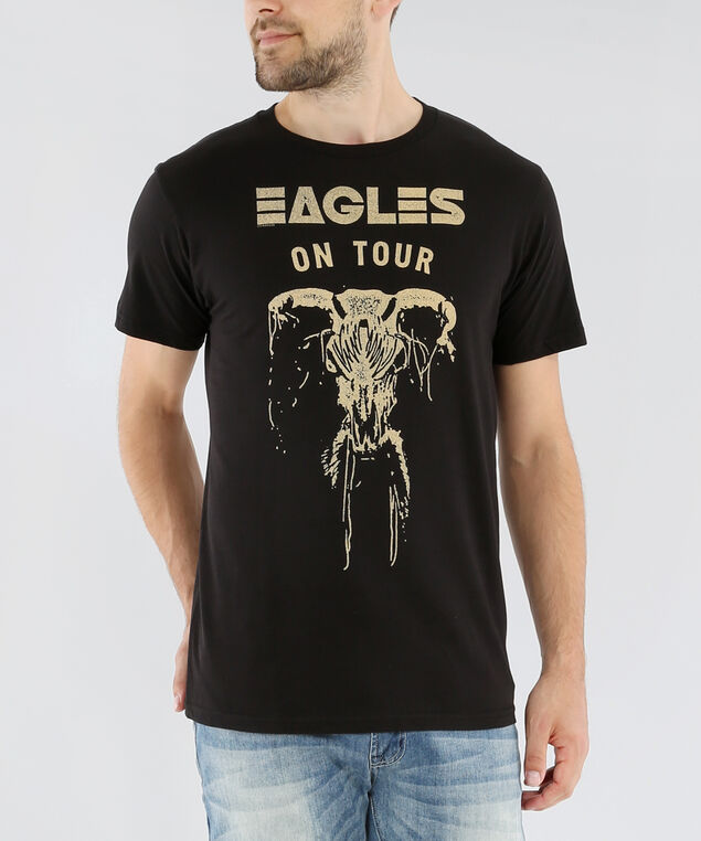 eagles on tour graphic tee, BLACK, hi-res