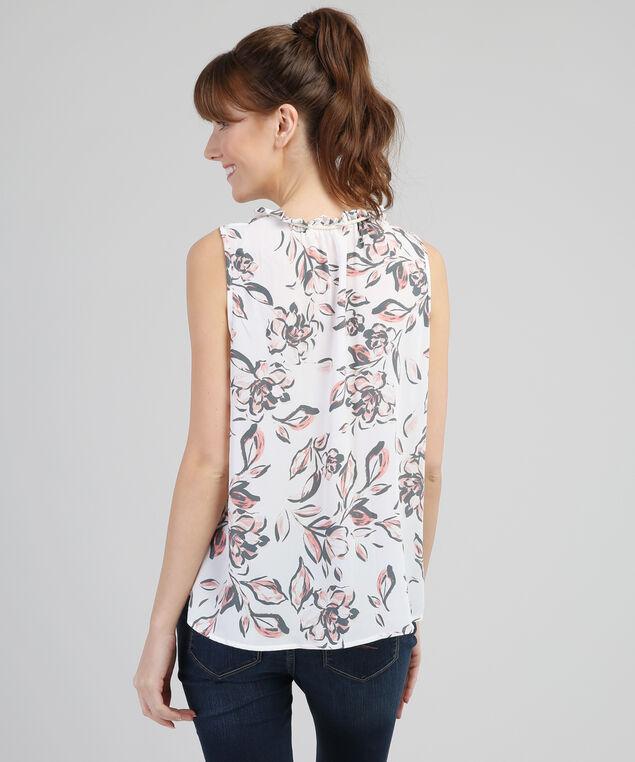 v-neck floral top - wb, IVORY FLORAL, hi-res