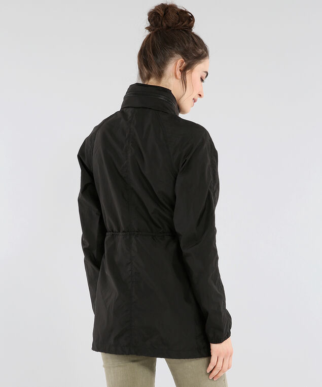 black anorak jacket - wb, BLACK, hi-res