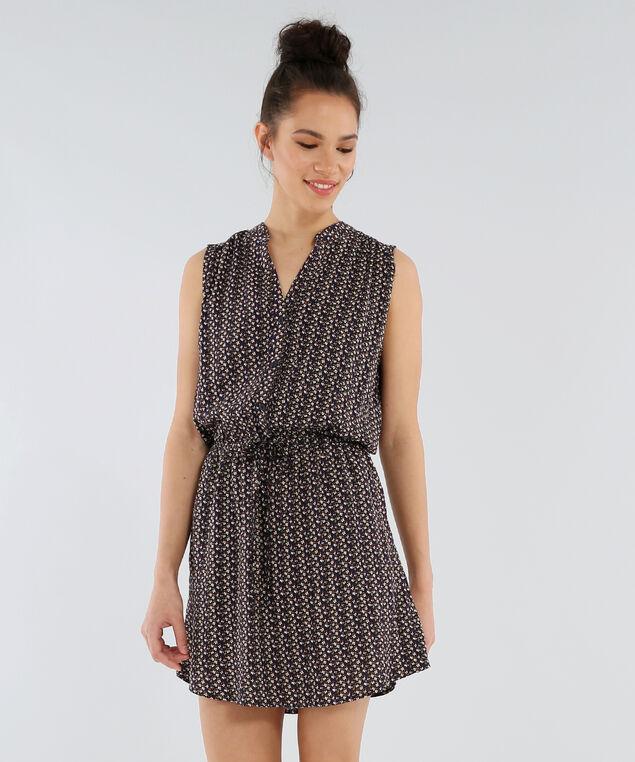 drawstring waist dress - wb, NAVY, hi-res