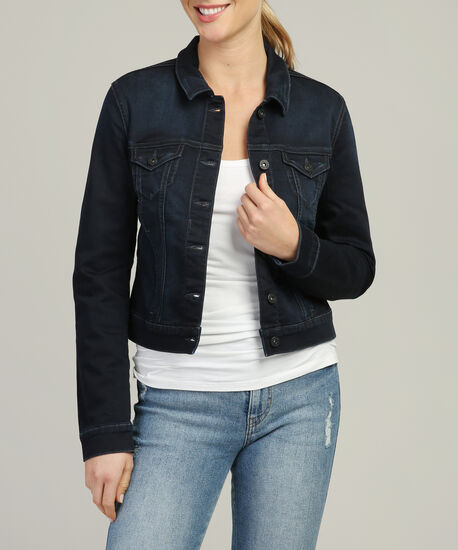 samantha deep coated sporty denim jacket, DSW, hi-res
