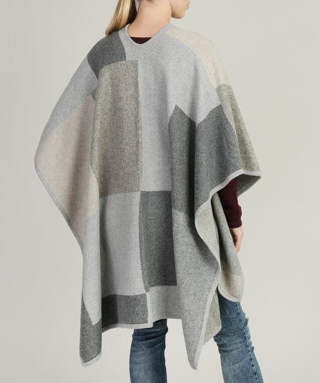 tonal print cape, GREY COMB, hi-res