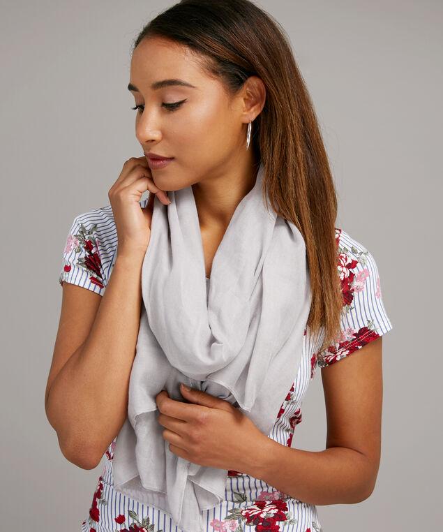 grey silver leaf scarf, GREY SILVER, hi-res