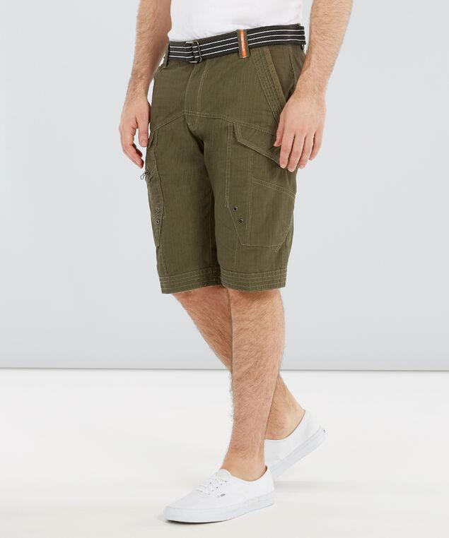 belted crosshatch short, OLIVE, hi-res