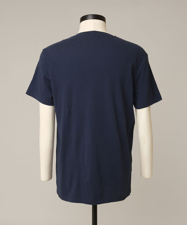 owen v neck tee, NAVY, hi-res