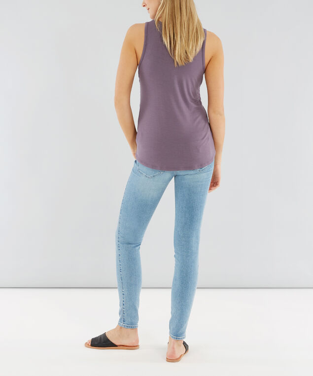 double ruched tank - wb, LILAC DUSTY, hi-res