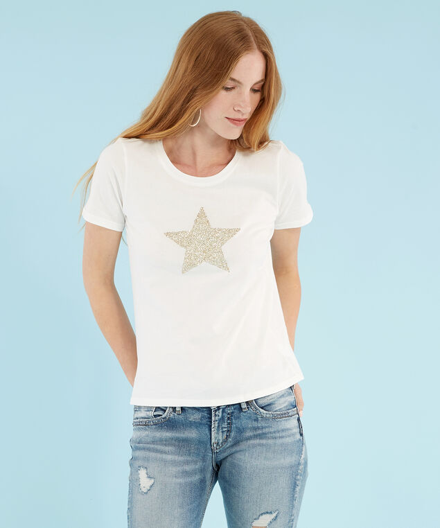 star graphic tee - wb, WHITE, hi-res