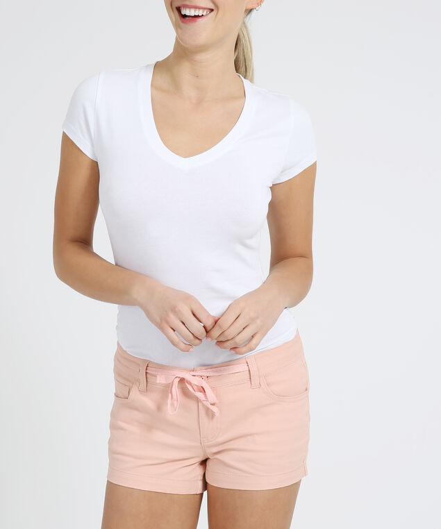 cotton drawstring shortie - wb, TROPICAL PEACH, hi-res