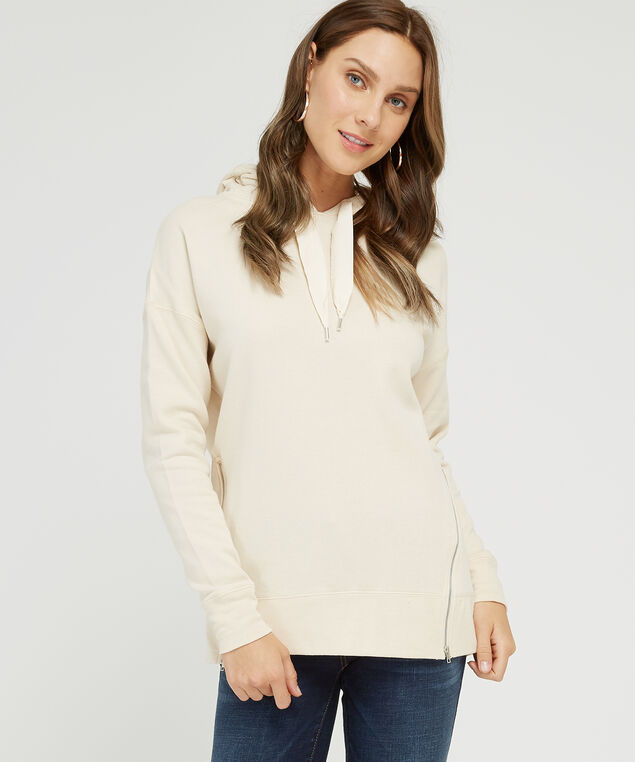 long hoodie with side zipper - wb, SOFT OAT, hi-res