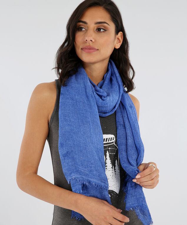 oblong lightweight scarf, BLUE TIEDYE, hi-res
