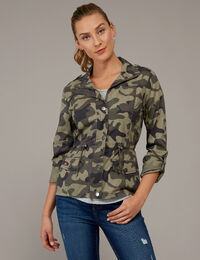 camo anorak with back embroidery - wb