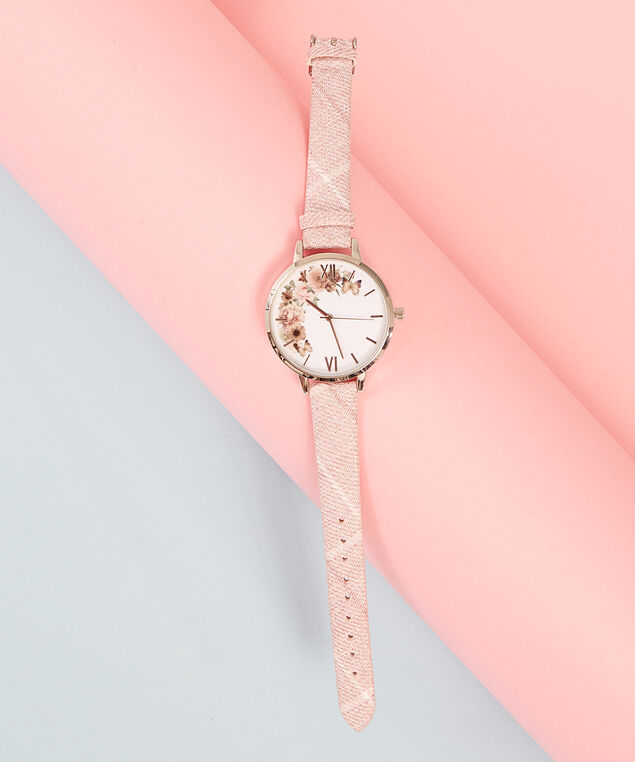 pink & silver watch, PINK/SILVER, hi-res