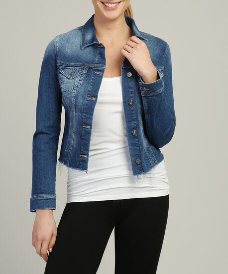 samantha used blogger cropped denim jacket, DSW, hi-res