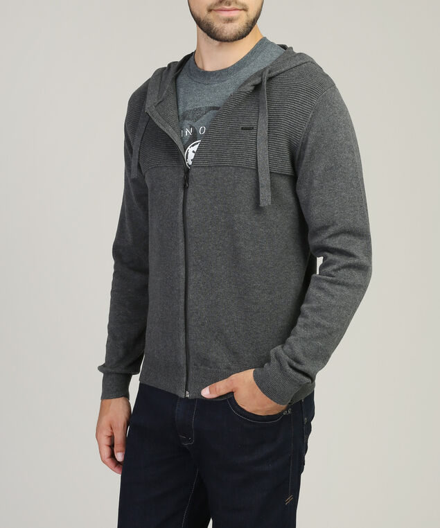 zip-up hoodie - wb, CHARCOAL, hi-res