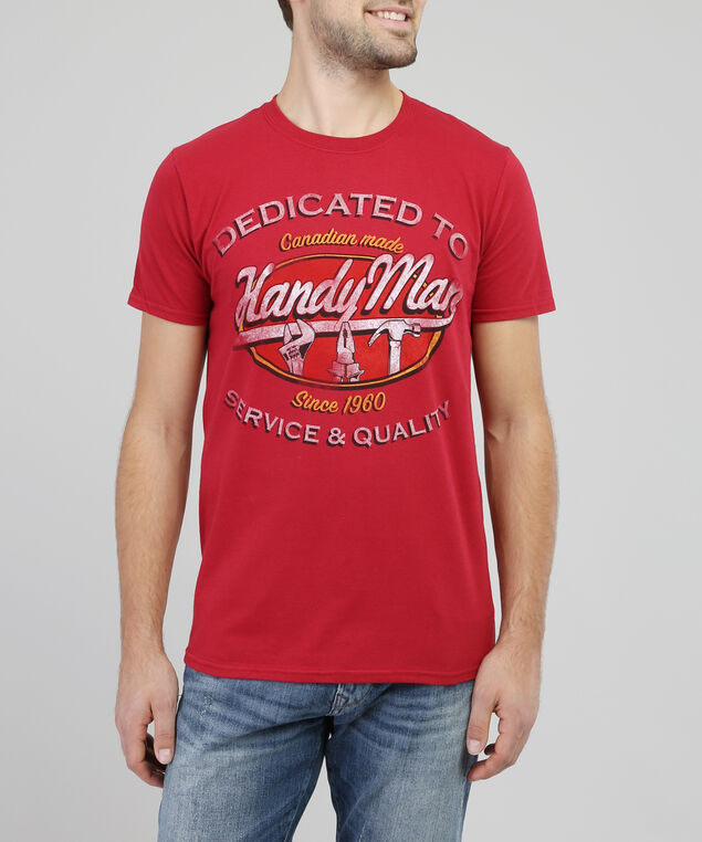 handy man graphic tee, RED, hi-res