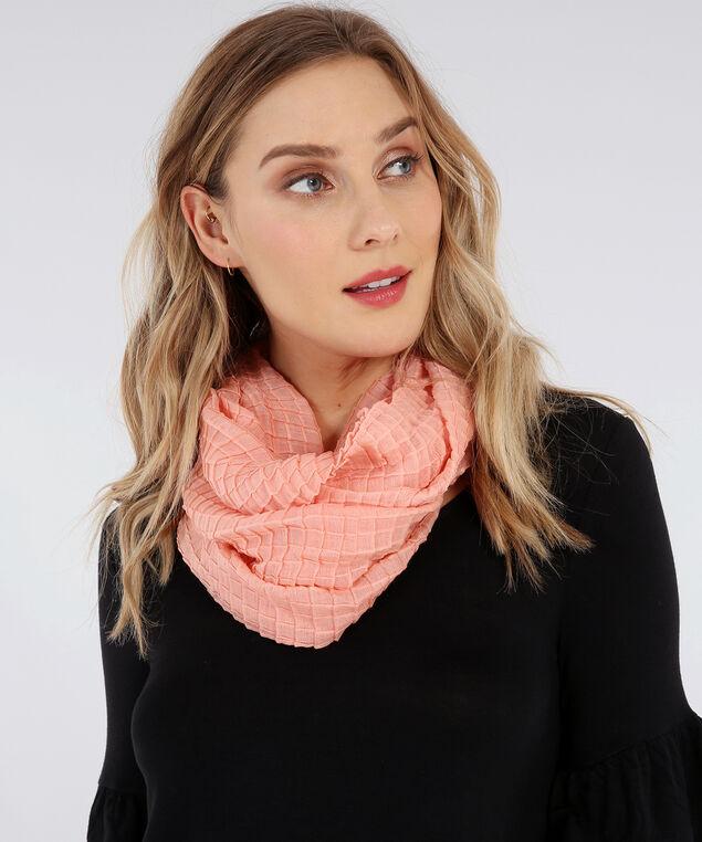 coral infinity scarf, CORAL, hi-res