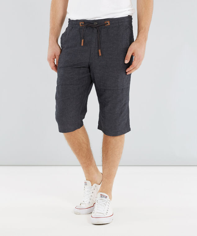 dale linen short, CHARCOAL, hi-res