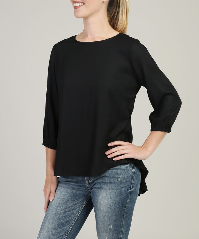 guilty peplum top - wb, BLACK, hi-res