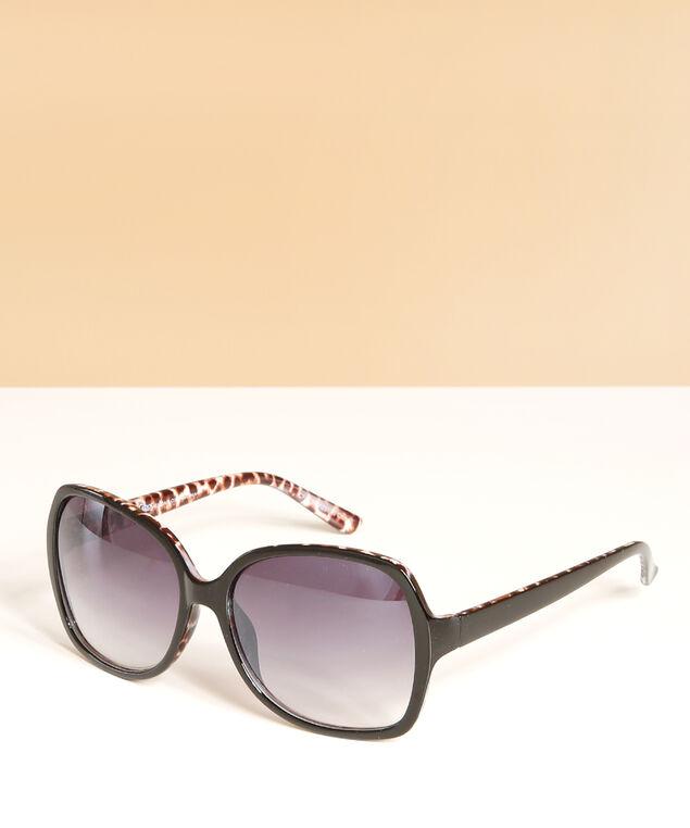 black oversized sunglasses, BLACK, hi-res