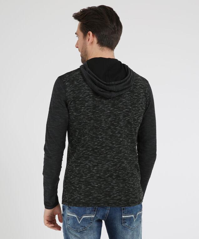 colourblock spacedye hoodie, BLACK, hi-res