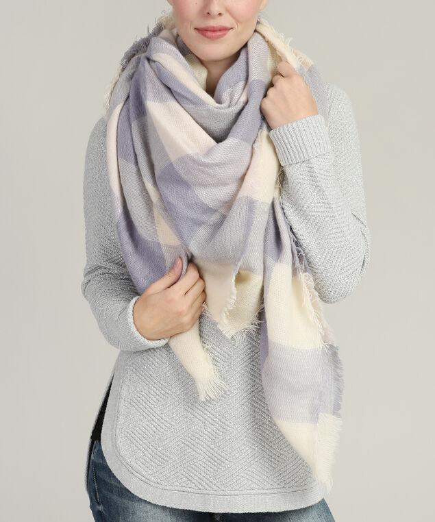 classic oversized plaid scarf, LAVENDER/IVORY, hi-res