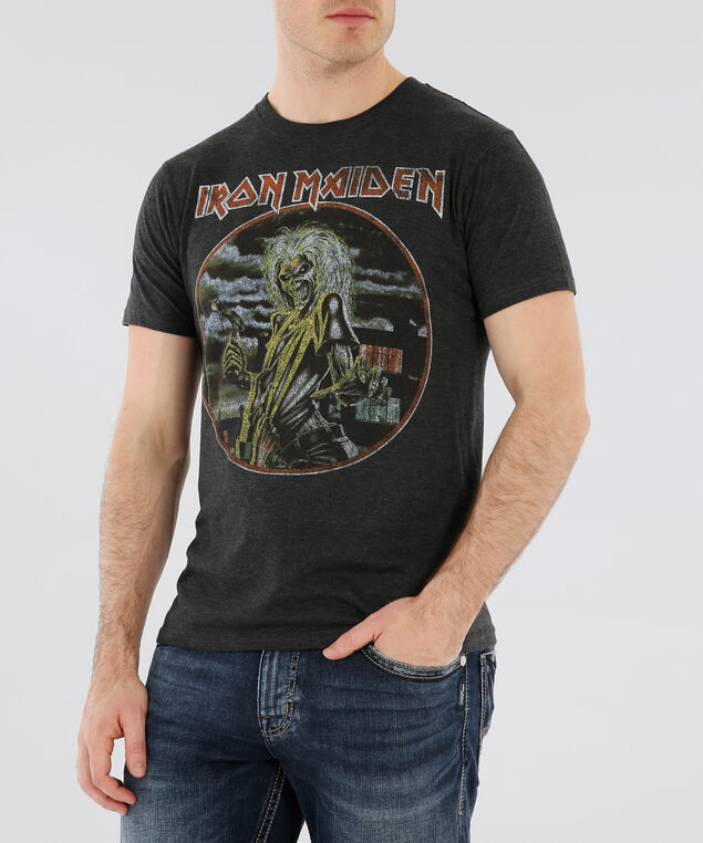 Iron Maiden graphic tee SU18, CHARCOAL HEATHER, hi-res