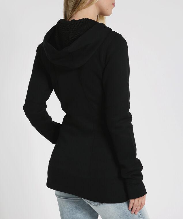 fleece hoodie - wb, BLACK, hi-res