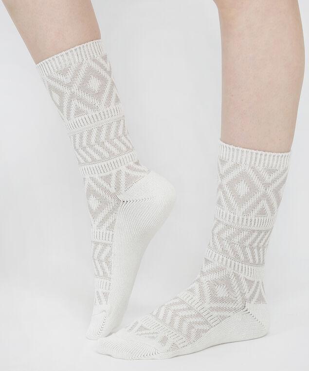 aztec socks, IVORY, hi-res
