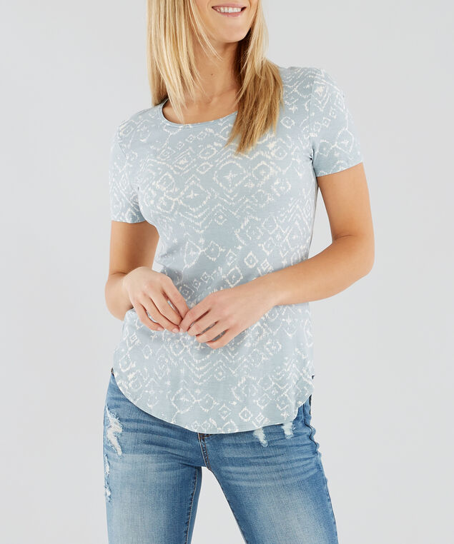 scoop neck tee - wb, CHAMBRAY, hi-res