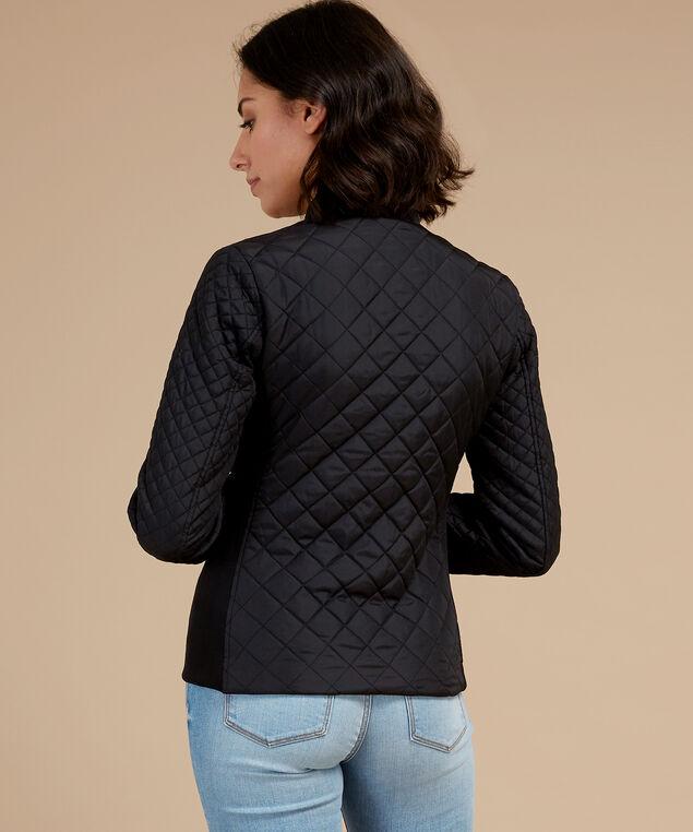 quilted jacket, BLACK, hi-res