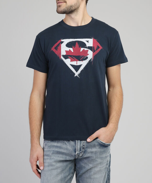 canada superman graphic tee, NAVY, hi-res