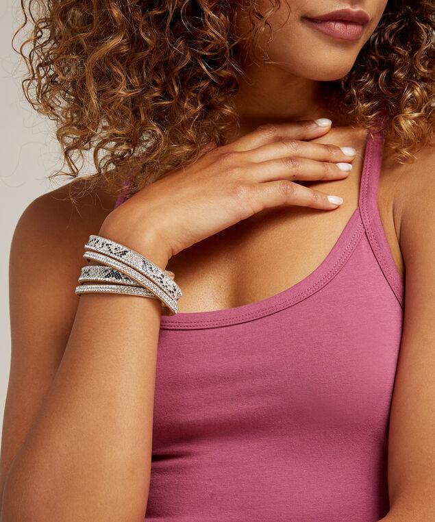 python print wrap bracelet, TAN, hi-res