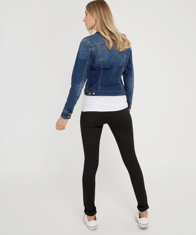 joga denim jacket - wb, DARK STONE WASH, hi-res