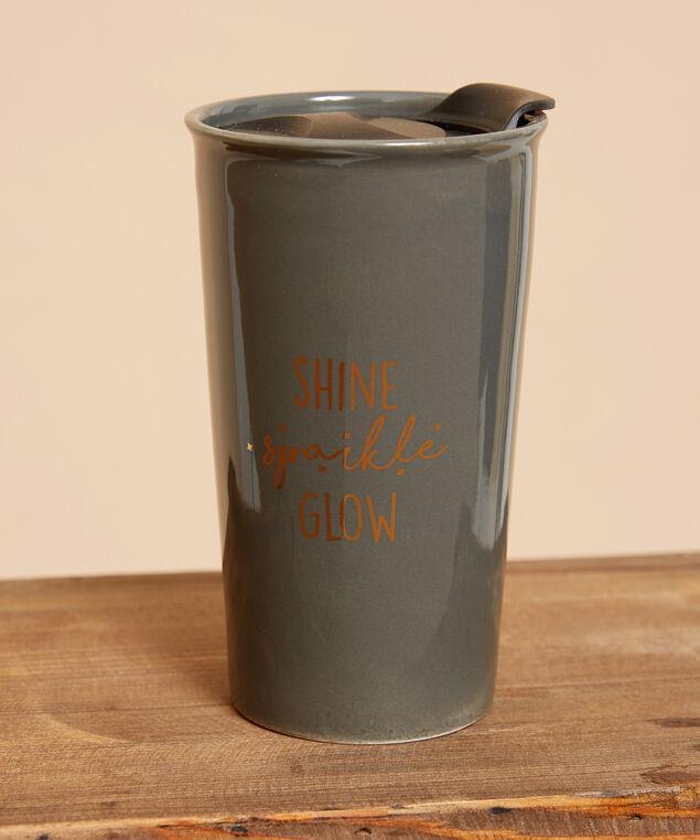 shine sparkle glow travel mug - wb, GREY COMBO, hi-res