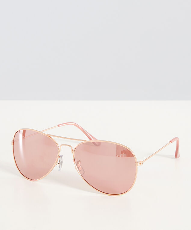 pink lense aviator, GOLD/ROSE, hi-res