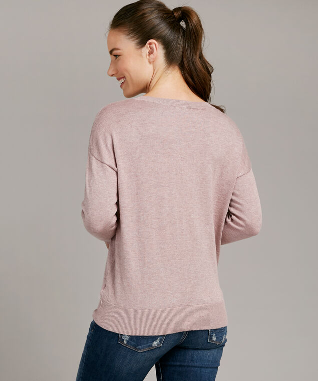 popover sweater tie front - wb, PINK, hi-res
