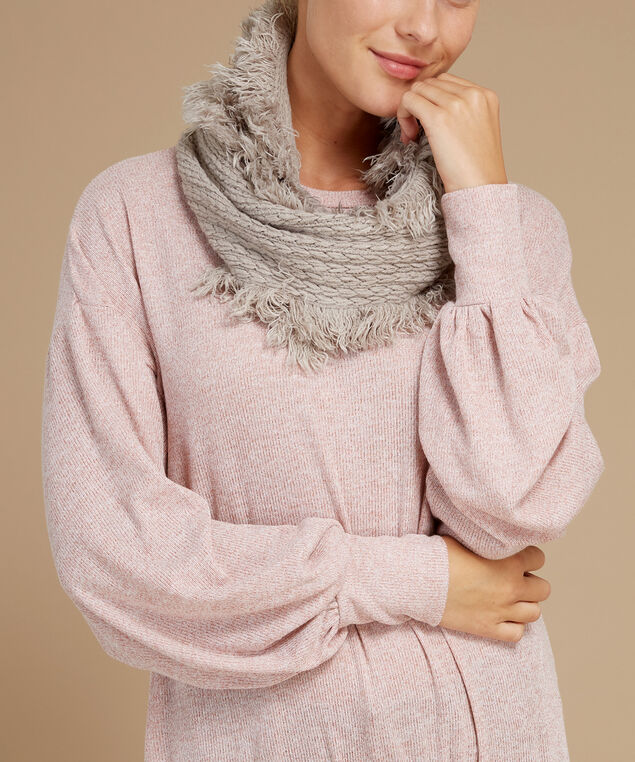 knit infinity scarf, PORPOISE, hi-res
