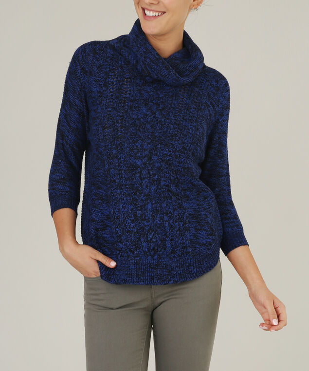 3/4 sleeve popover - wb, BLUE, hi-res