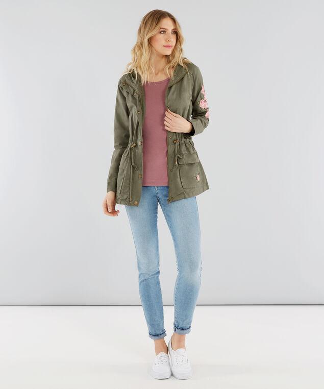 embroidered cargo jacket - wb, LIGHT OLIVE, hi-res
