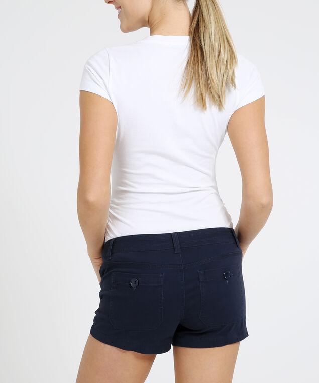 cotton drawstring shortie - wb, PEACOAT, hi-res