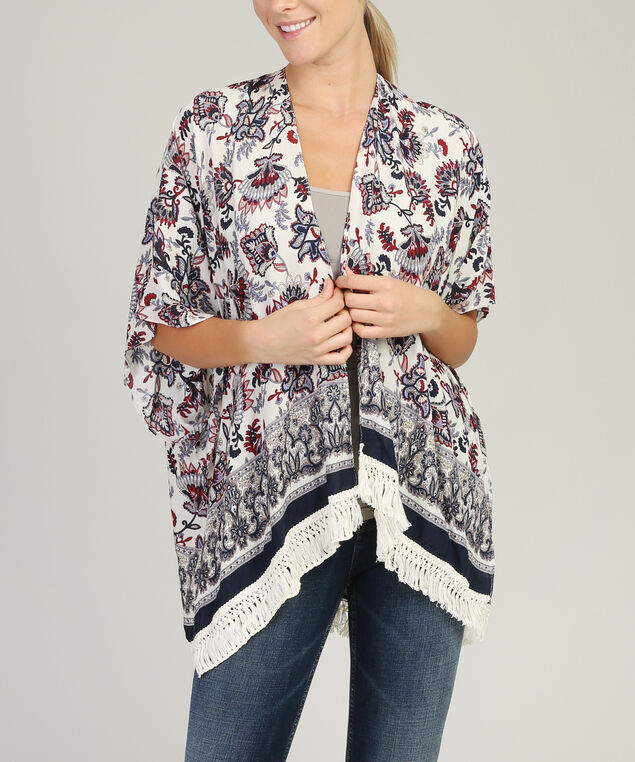 paisley kimono, CREAM, hi-res