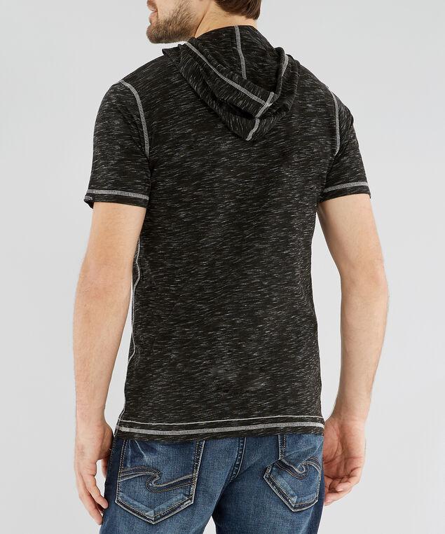 hooded henley, BLACK/WHITE, hi-res