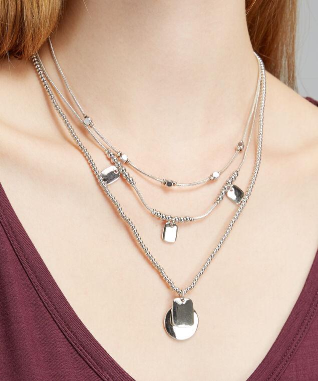 pendant necklace, SILVER, hi-res