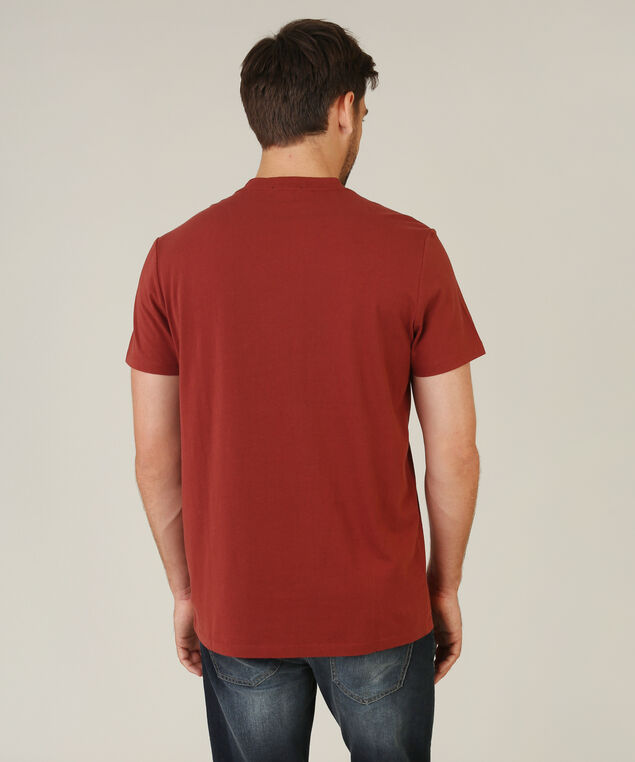 owen v neck, BRICK, hi-res