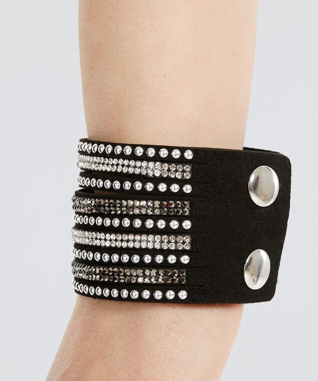 multi strap bracelet, BLACK, hi-res