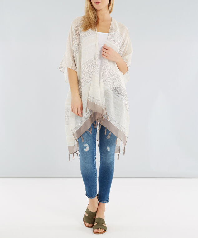 tassel kimono, IVRY MLT ST, hi-res