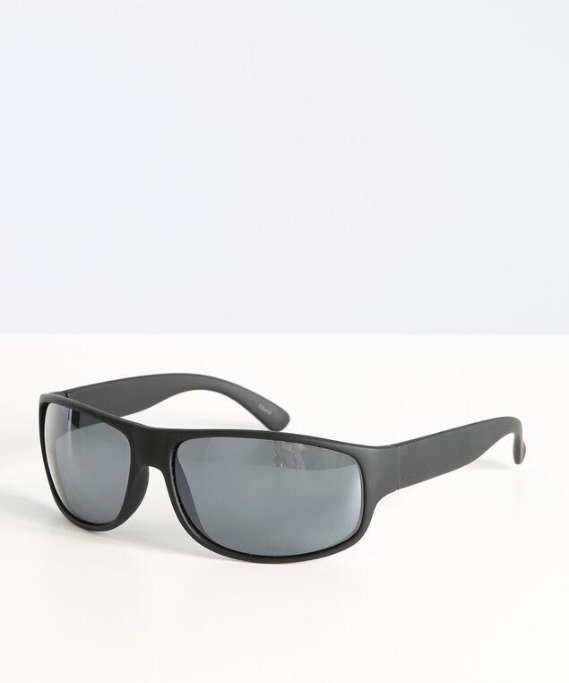 basic wrap sunglasses, BLACK, hi-res