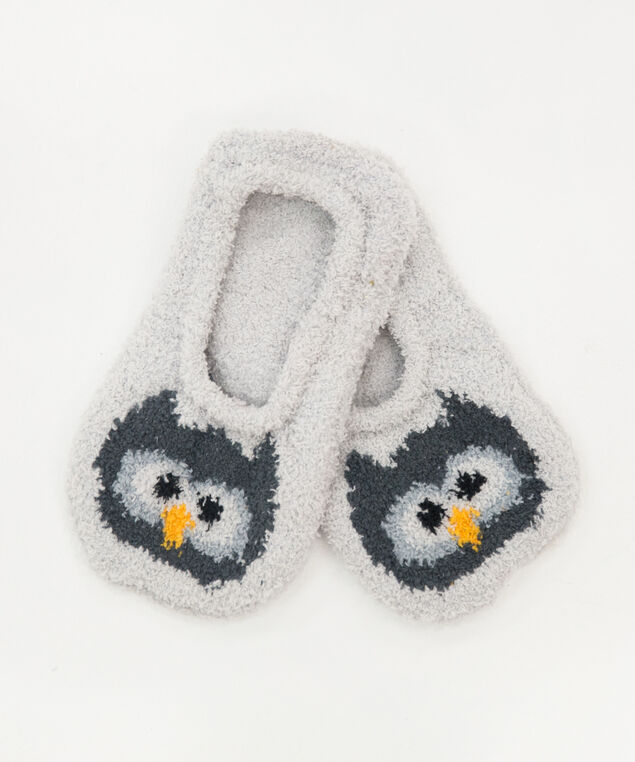 holiday slipper socks, OWL, hi-res