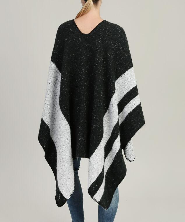 large stripe cape, BLACK/WHITE, hi-res